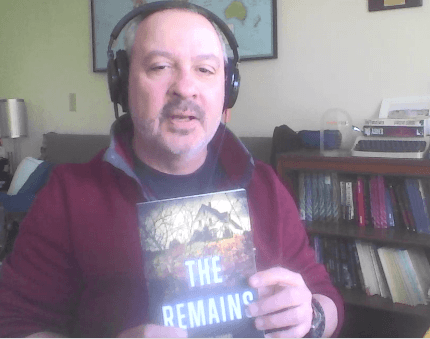 Vince Zandri shows off book The Remains